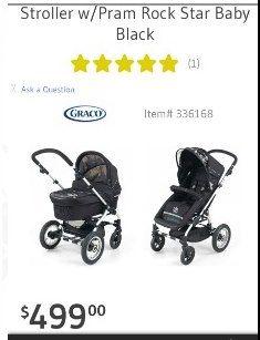 Whatametziah Rock Star Baby Stroller And Bassinet Pram