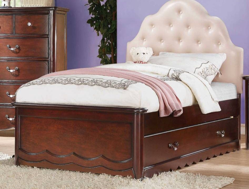 Whatametziah Full Size Cherry Wood Bed And Trundle Storage Drawer 129 Lakewood